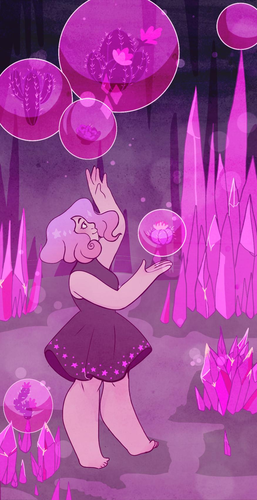 Cactus Quartz Pink Diamond Steven Universe Steven Universe Fanart Crystal Gems Steven Universe