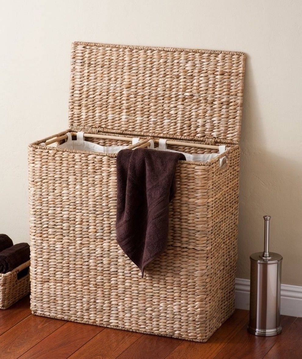 31 Products To Help Make Laundry Day Far More Efficient And Much Less Miserable Laundry Hamper Laundry Sorter Hamper Wicker laundry hamper with liner