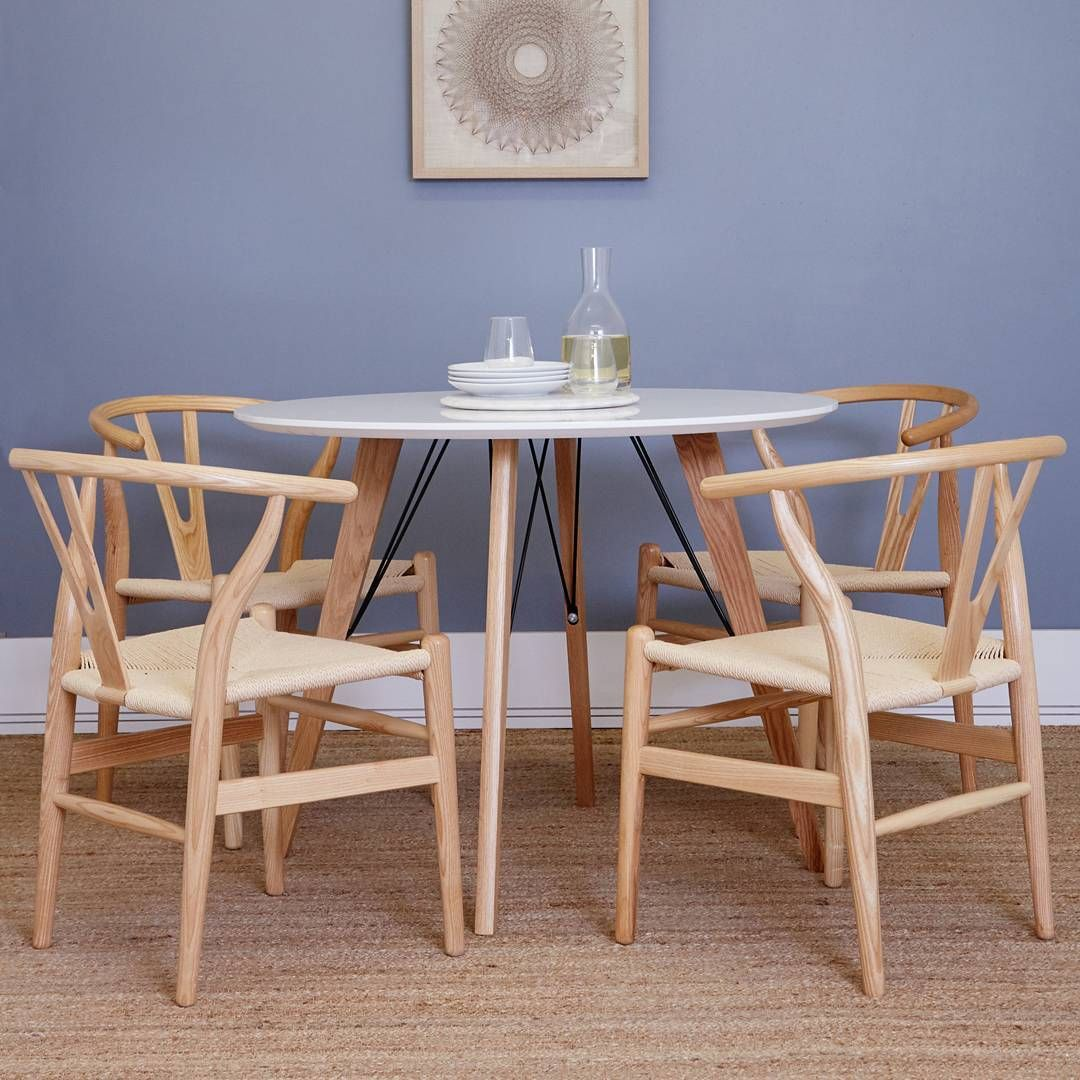 Dining Table And Wishbone Chairs