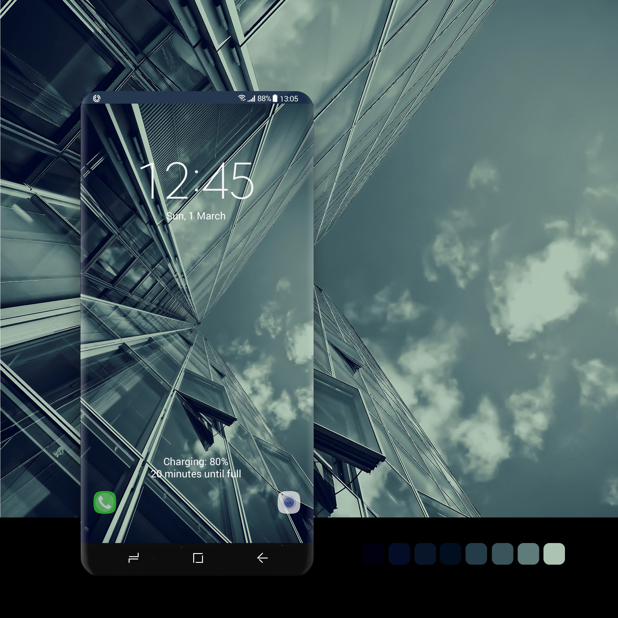Glass architecture wallpaper wallpaper, android, phone
