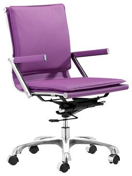 Zuo Lider Plus Office Chair Purple   Modern   Task Chairs   Cymax
