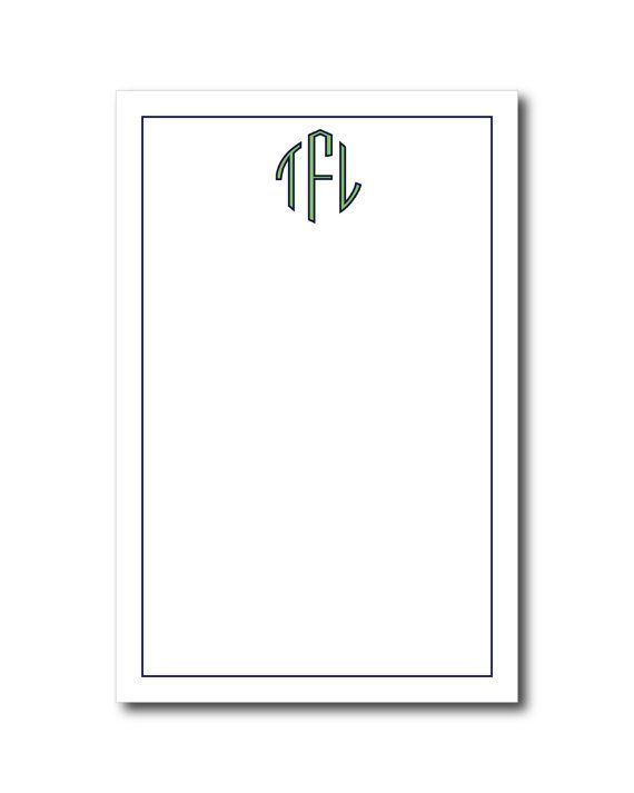 Personalized Notepad  SIMPLE MONOGRAM Collection by PrettySmitten, $15.00