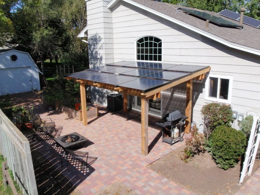Patio Awning 2 1kw Of Silicon Energy Cascade Pv Modules