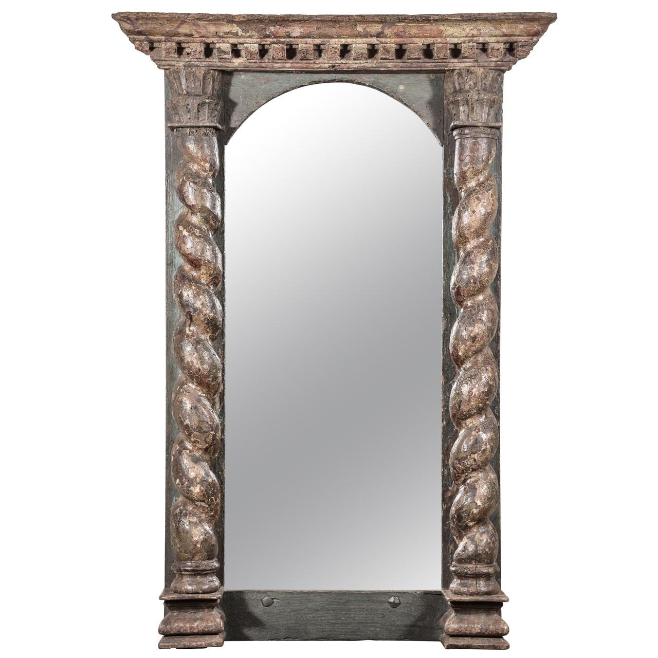 1stdibs.com | 18th c. Painted French Mirror from Skelton - St. John