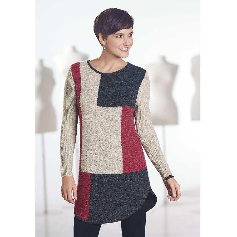Colorblock Tunic Sweater - Women's Clothing, Unique Boutique Styles & Classic Wardrobe Essentials