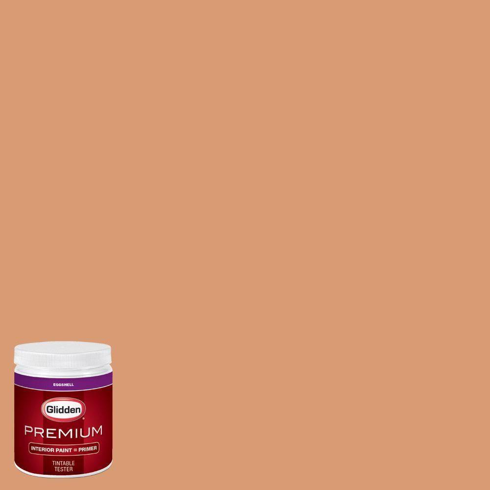 Glidden Premium 8 oz. #HDGO47U Caramelized Orange Eggshell Interior Paint with Primer Tester