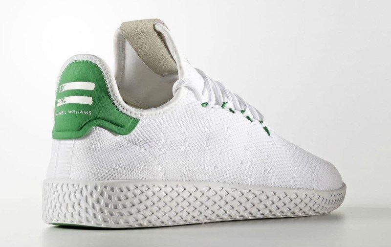 sale retailer 34a80 8f563 Pharrell x adidas Tennis HU White Green