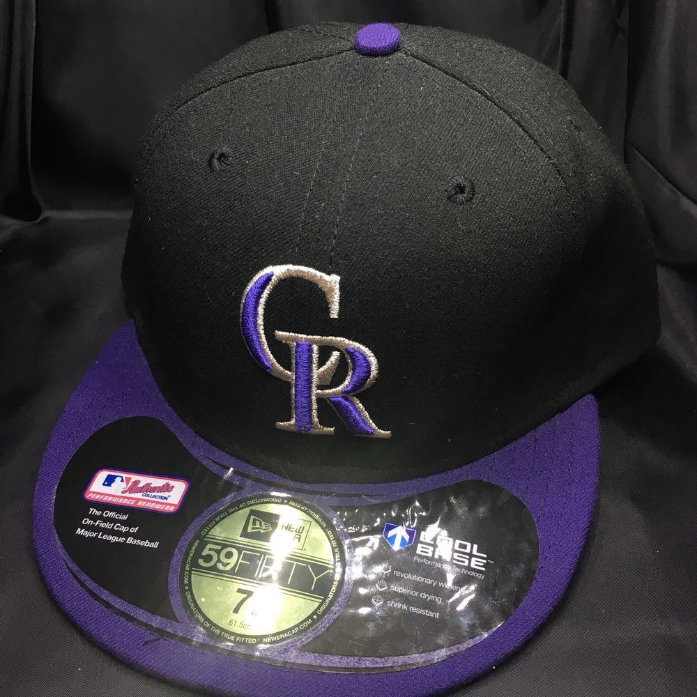 d7573625d ... best price colorado rockies mens size 7 3 4 new era 59fifty flatbrim cap  hat fitted