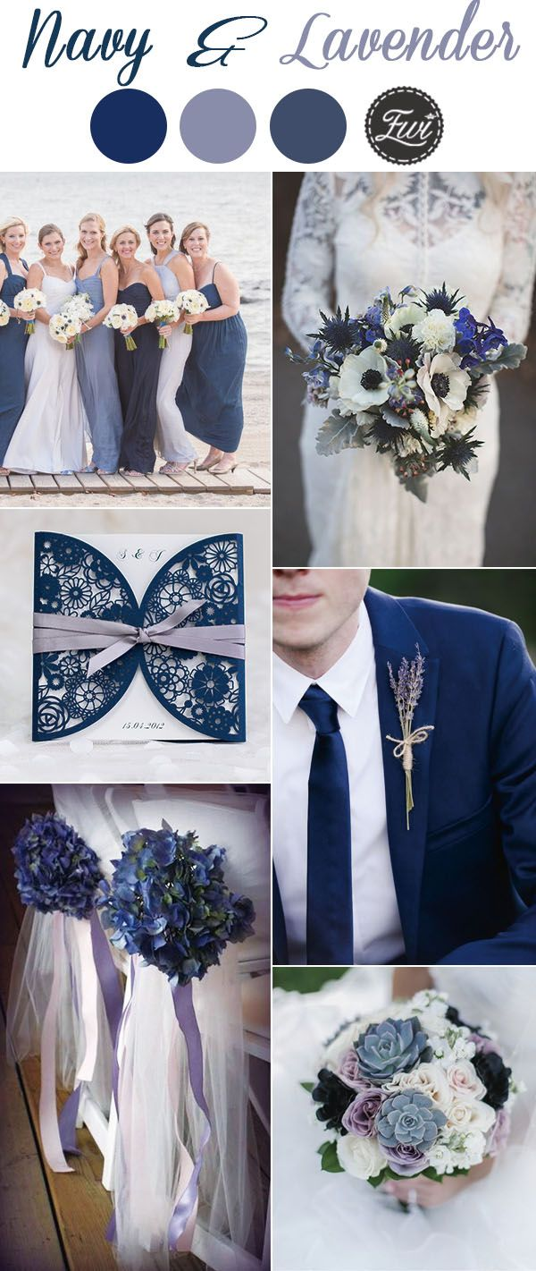 7 Classic Navy Blue Wedding Colors with Matching Wedding Invitations ...