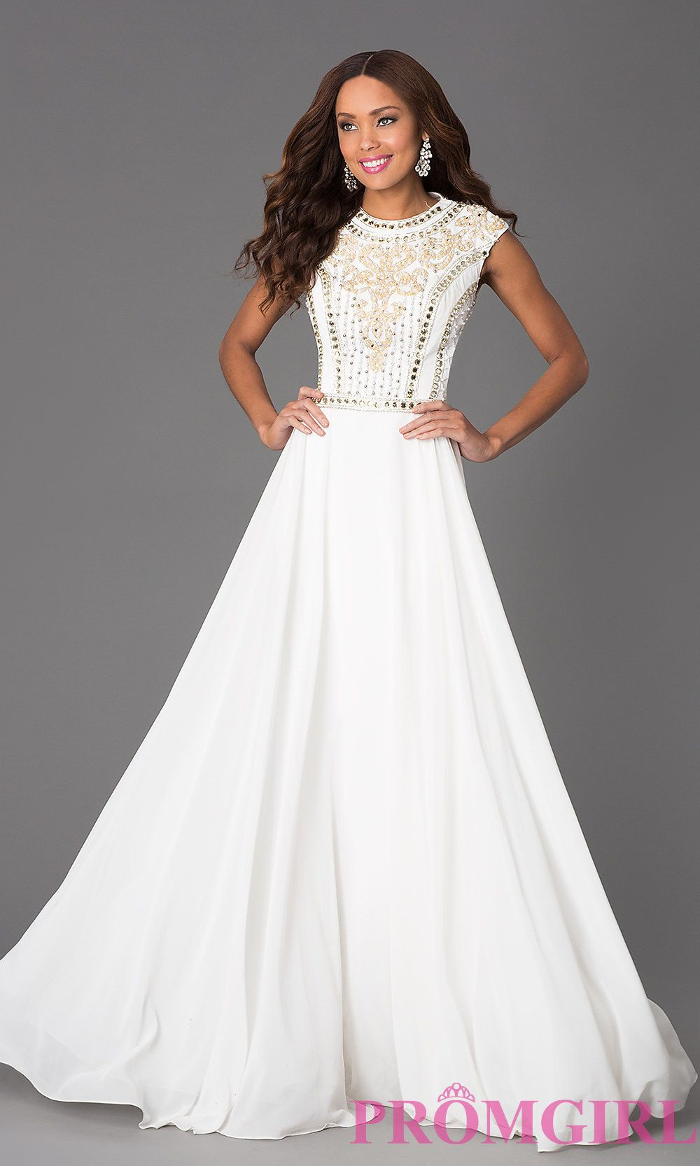 Image of Long Beaded Prom Dress JVN24413 Jovani Style: JO-JVN ...