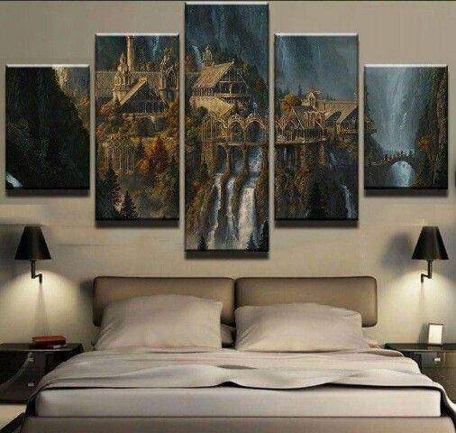 brucjtal aus herr der ringe kunst pinterest schlafzimmer br che und herr der ringe. Black Bedroom Furniture Sets. Home Design Ideas