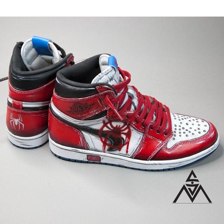Custom nike sneakers spiderman marvel | Shoes in 2019