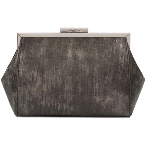 Metallic Clutch on Chain Calvin Klein JbQRzPeQH