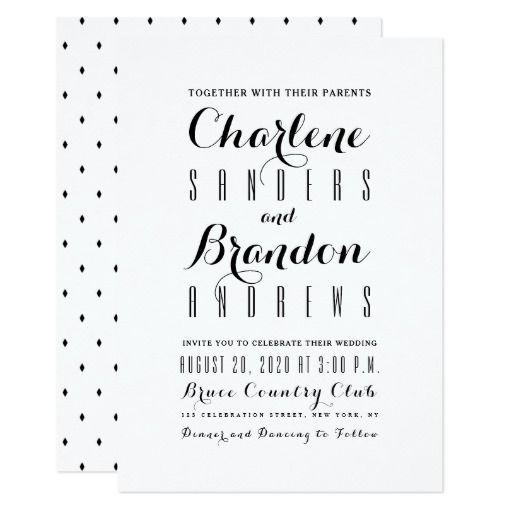 minimal simple modern elegant wedding invitations weddings