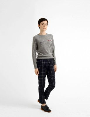 Band of Outsiders sweater and pants, Robert Clergerie shoes