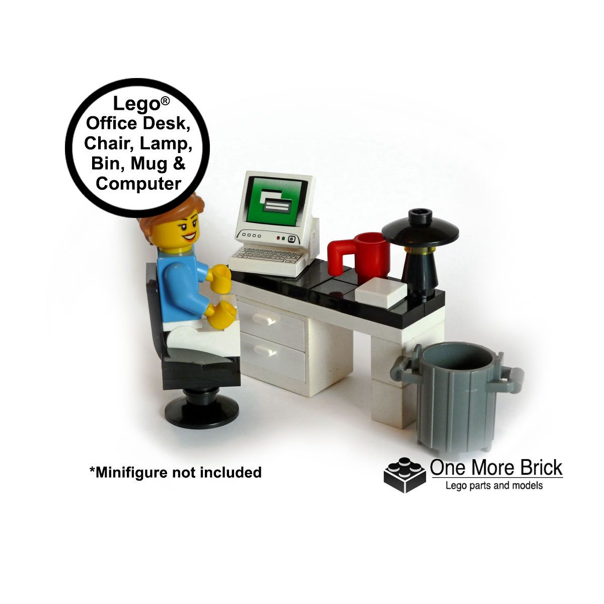 Lego Office Desk With Computer Office Chair Desk Lamp