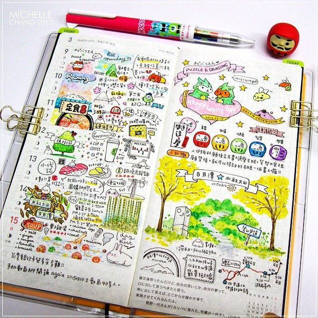 Cheerful & colorful journaling - ほぼ日手帳 :: weeks