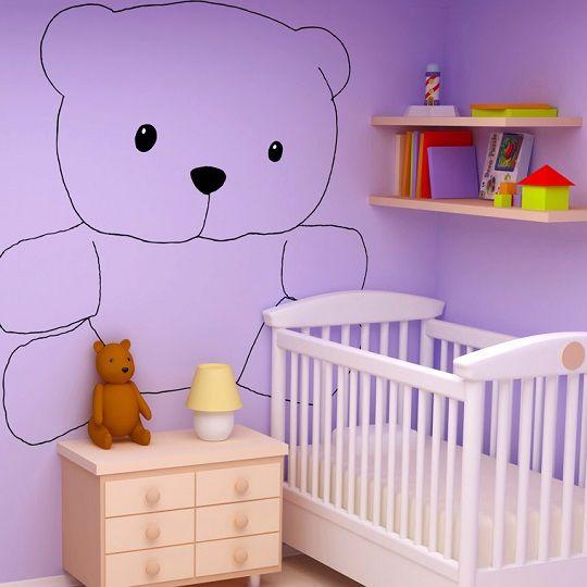 Dibujos para beb s para decorar cuarto ositos en foami for Decorar habitacion bebe nino