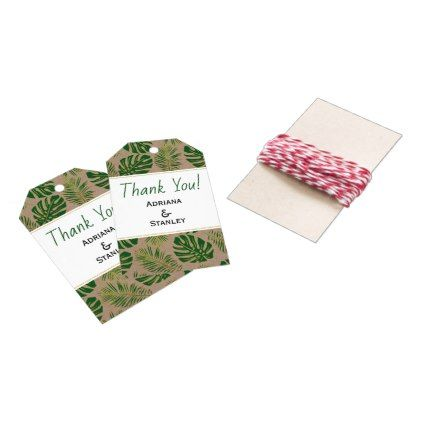 Tropical Green And Gold Rustic Wedding Thank You Gift Tags Home Gifts Ideas Decor Special