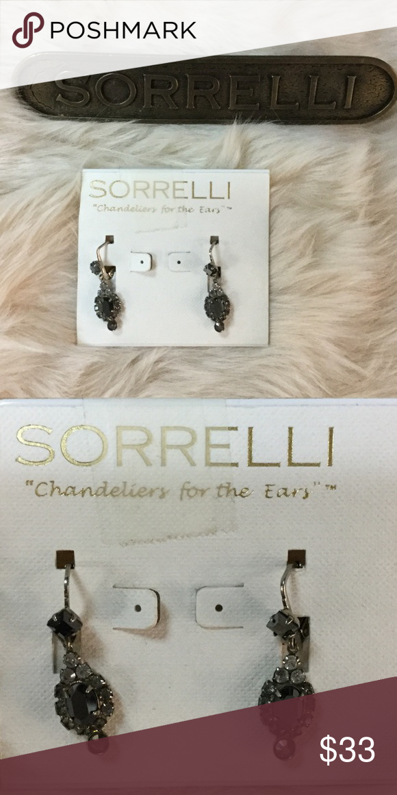 Sorrelli Earring Beautiful hanging earring with grey and silver stone accents. Style number: EBN102ASMMO Sorrelli Jewelry Earrings