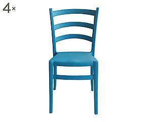 Sedie Turchesi ~ Set di sedie in nylon italia turchese cm wishlist