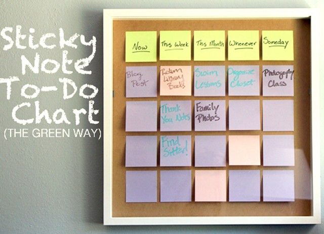 Diy Reusable ToDo List  Organizing Organizations And Chart