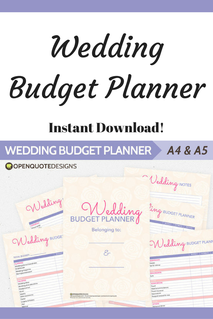 wedding budget planners to help plan your expenses from the planning