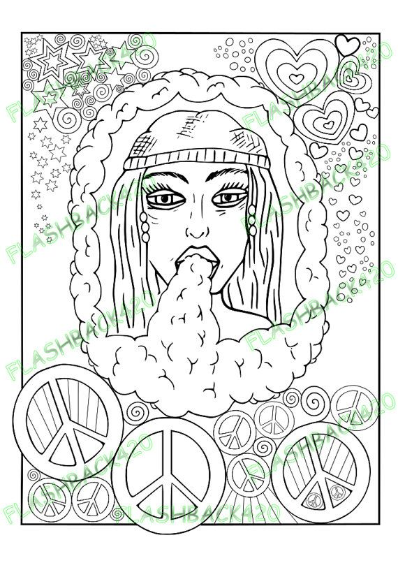 Hippie Stoner Coloring Pages : hippie, stoner, coloring, pages, Patterns