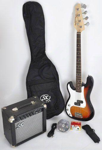 Sx Ursa 1 Jr Rn Pk 3ts Sunburst Left Handed Bass Guitar Package W Free Amp Bag Strap And Instructional Dvd Guitar Homes Left Handed Bass Bass Guitar Guitar