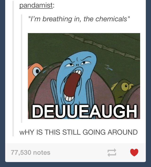 I'm breathing in the chemicals