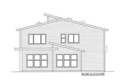 Plan 85208MS: Angular Modern House Plan with 3 Upstairs ...