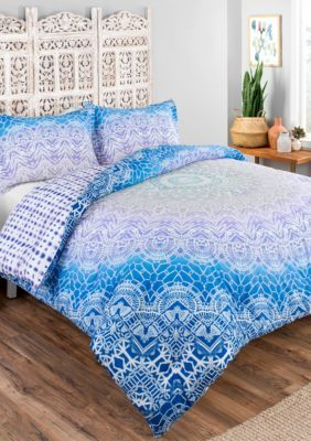 Boho Boutique Sundial 3-Piece Reversible Comforter Set