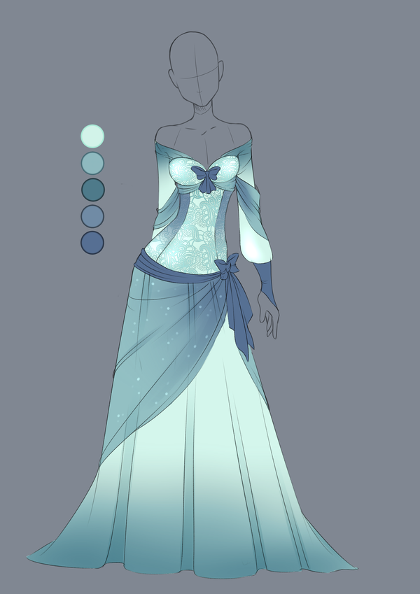 Character Design Dress Up : This is a commission for one of my characters art by