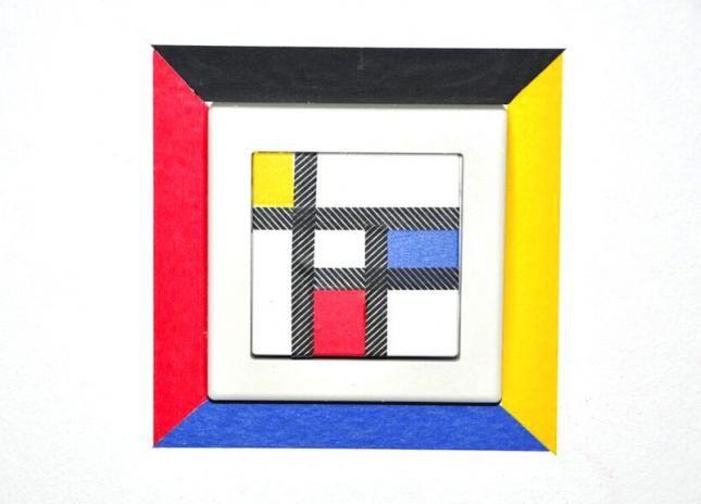 Lichtschalter im Stil von Piet Mondrian mit mt masking tape - Newsarchiv (Foto: KK)