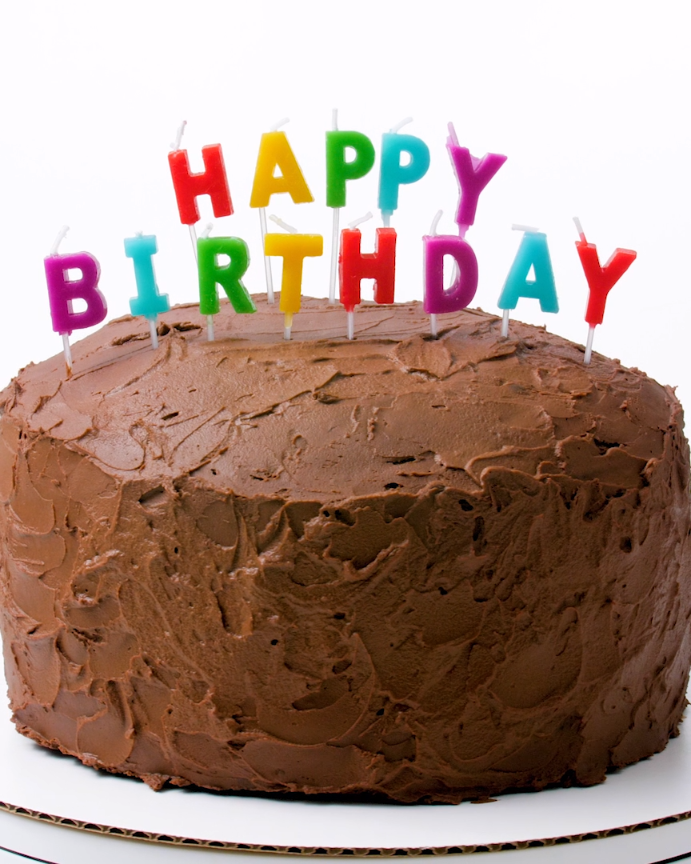 Big Chocolate Birthday CakeAny Lovers Dream Full Size Layers Of Cake Generously Frosted With A Whipped Frosting That