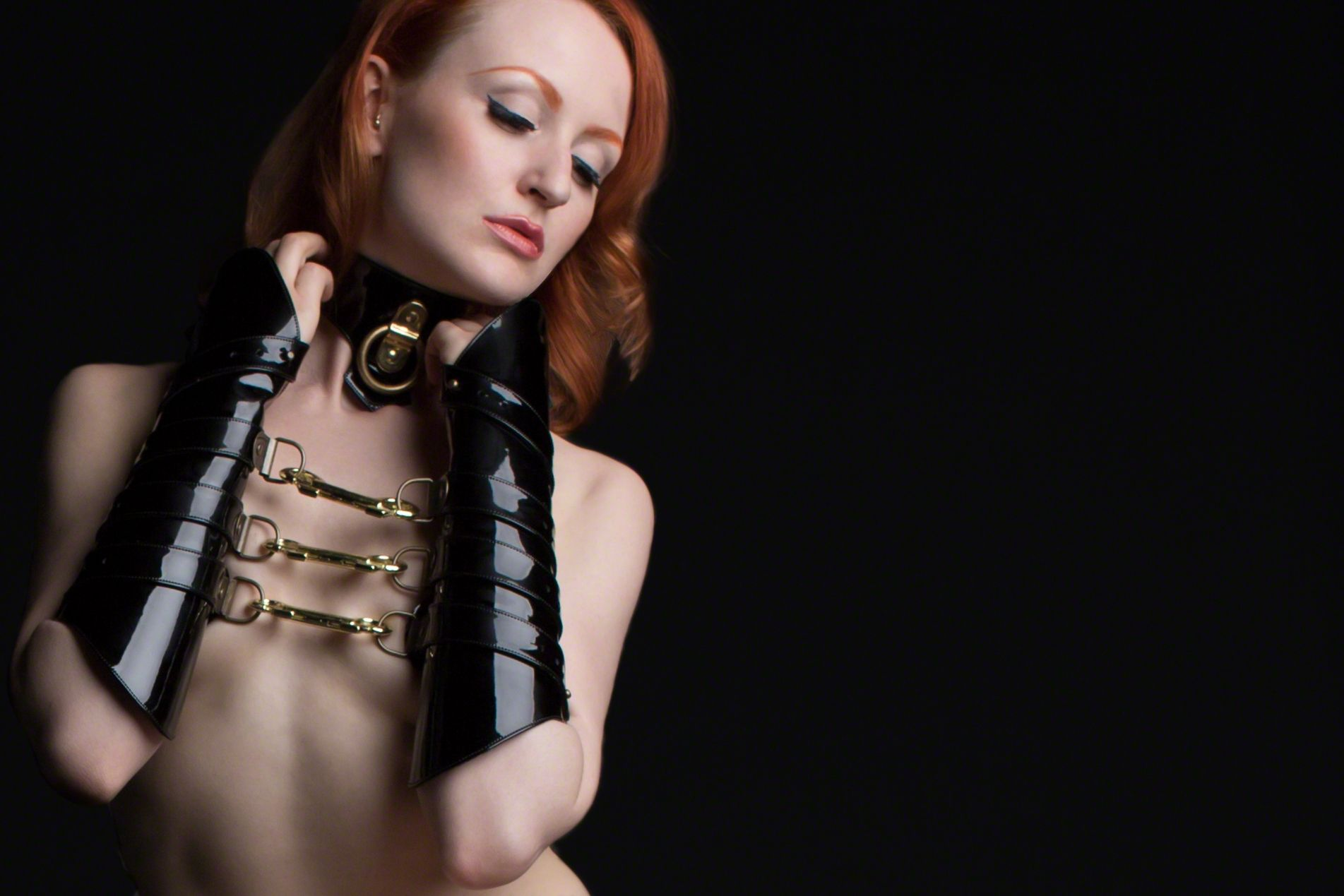 Anita De Bauch wearing accessories HANDMADE in London by