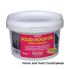Equimins Hoof Solid Hoof Oil With Lanolin Helps to protect against split hooves diseased frogs sand cracks and other problems No mess or waste