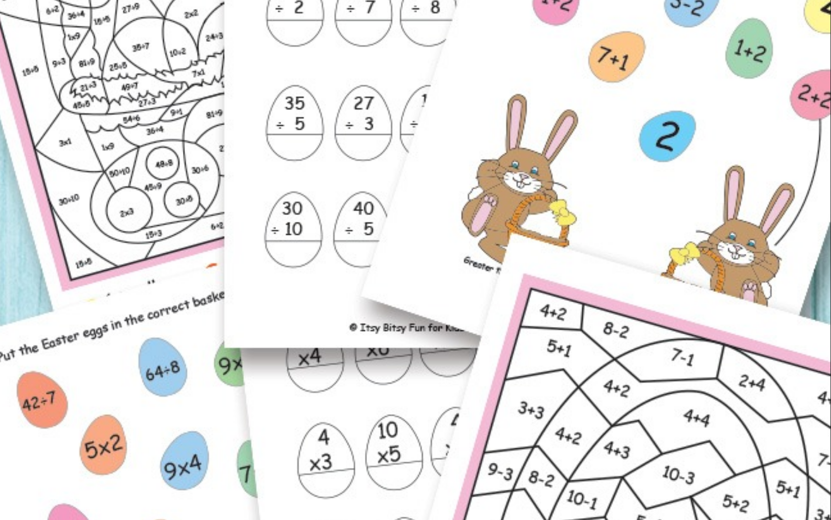 Easter Math Worksheets Free Kids Printables