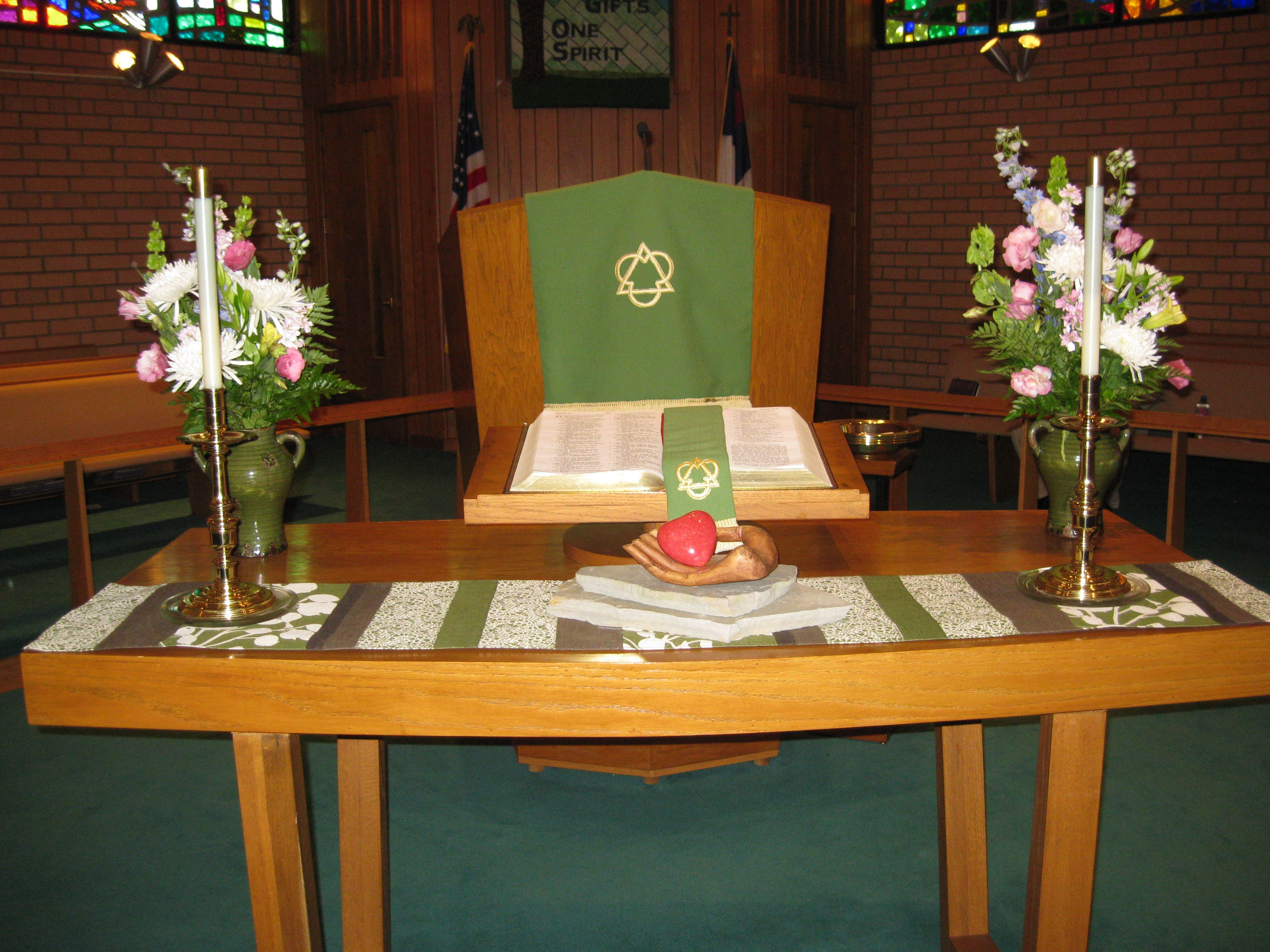 Altar display during the serving from the heart sermon