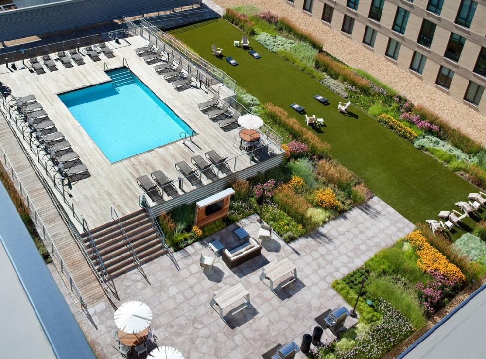 Ink Block Apartments Boston Ma Apartments Com Rooftop Design Landscape Terraced Landscaping