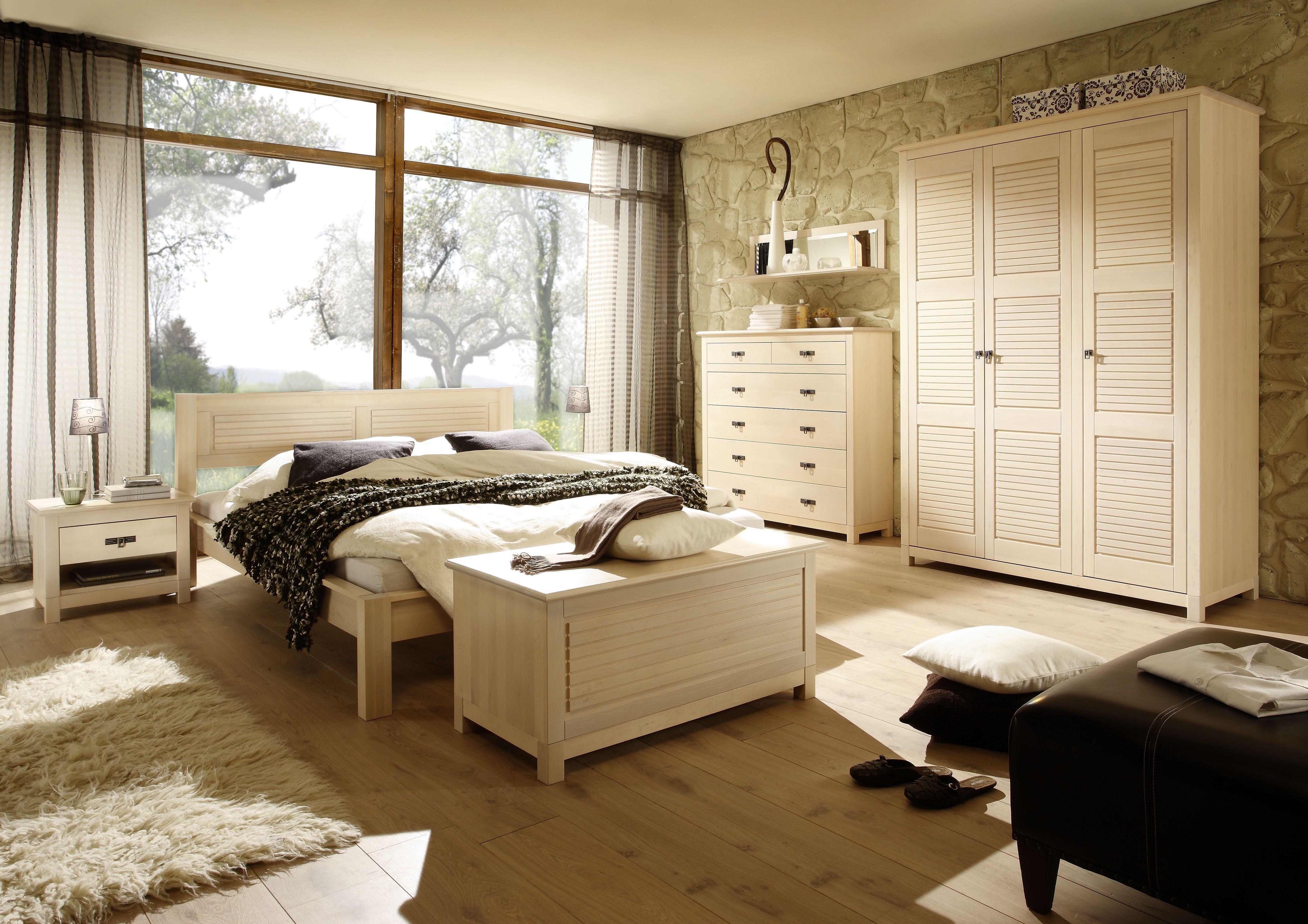 Home Design Schlafzimmer Kombination Massiv Landhausstil 4 Tei ...
