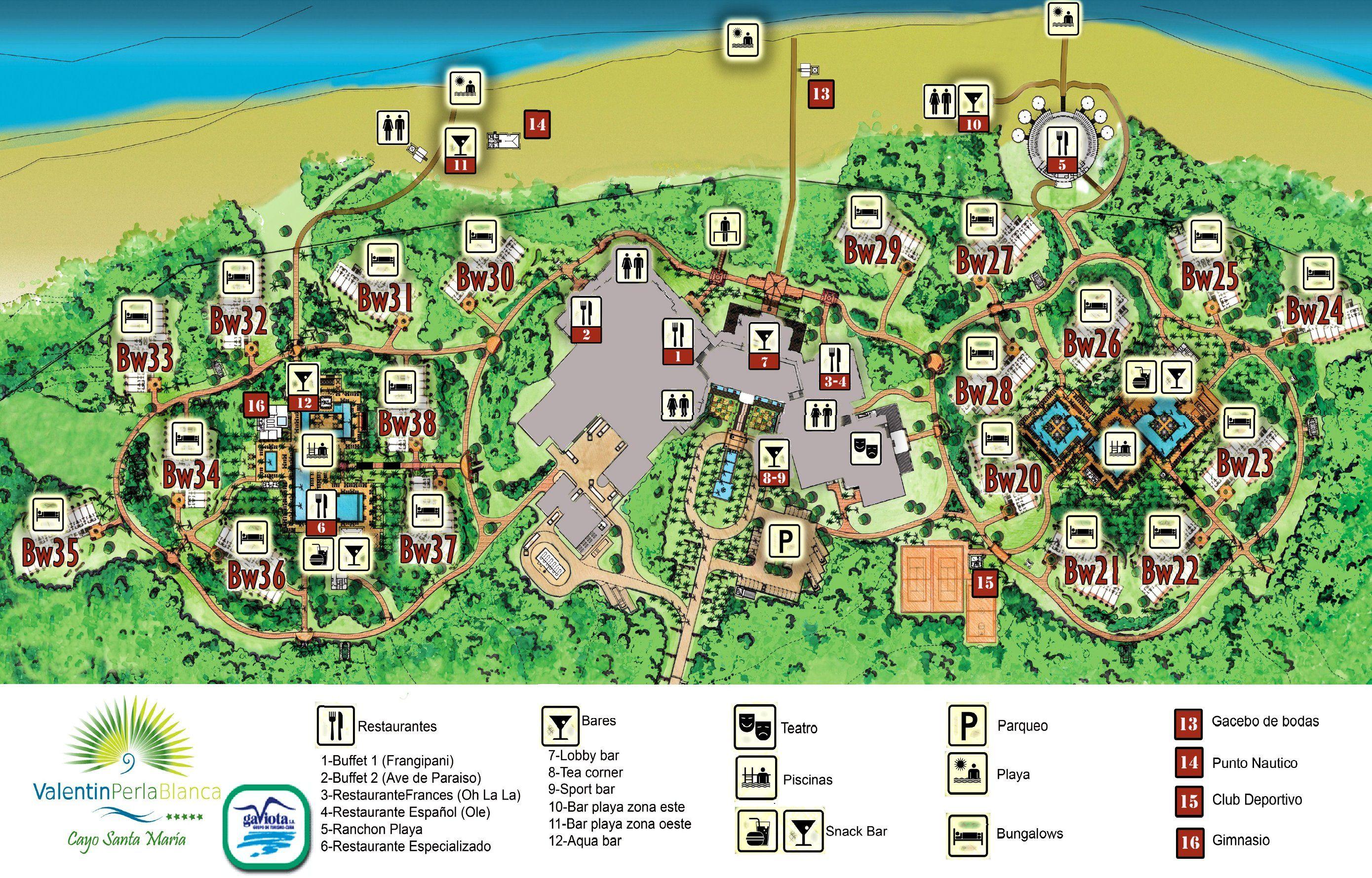 Map Layout Valentin Perla Blanca Cayo santa maria, Santa