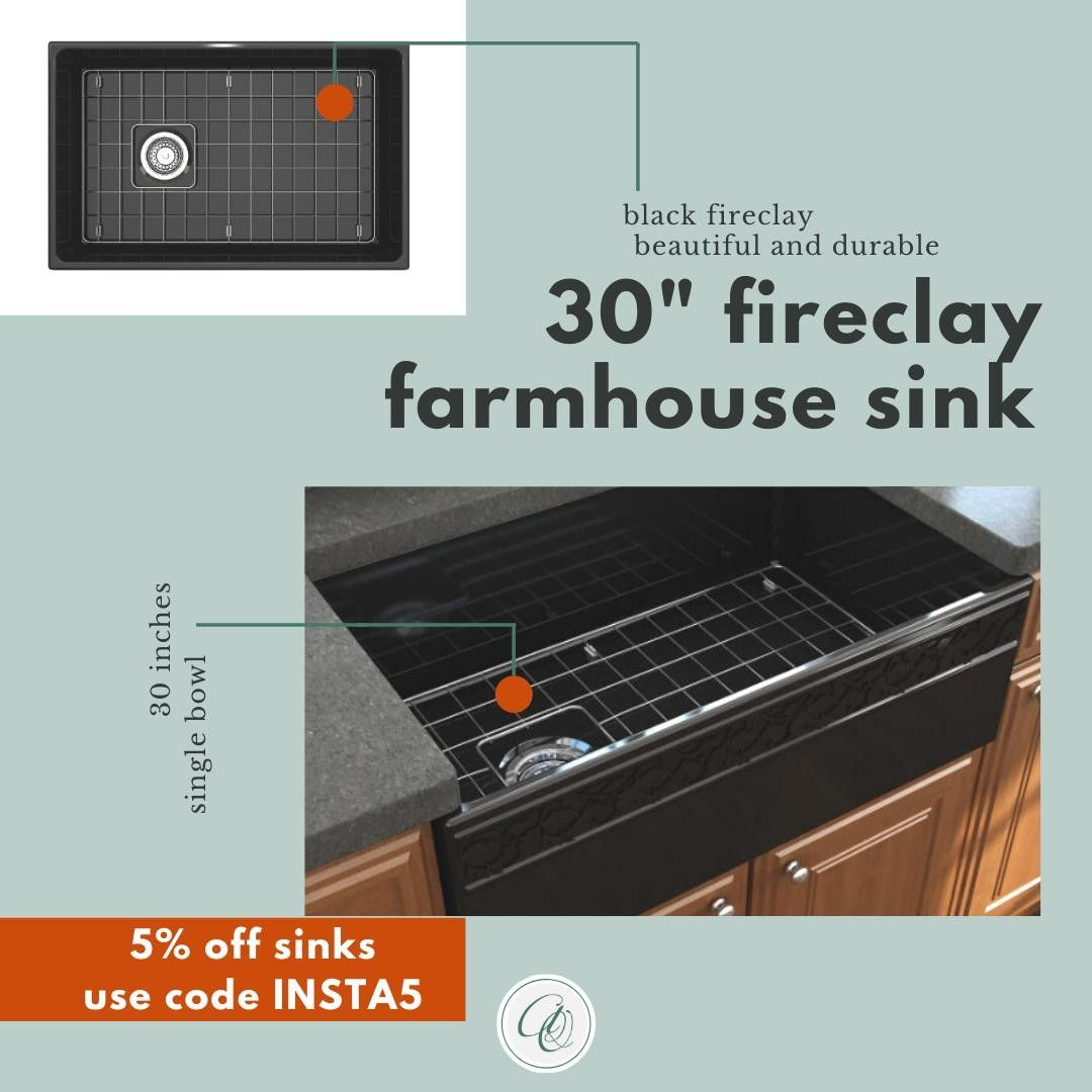 Bocchi Black 30 Inch Fireclay Sinks Are Created With Organic Durable And Recyclable Material Us In 2020 Kitchen Decor Fireclay Farmhouse Sink Single Bowl Kitchen Sink