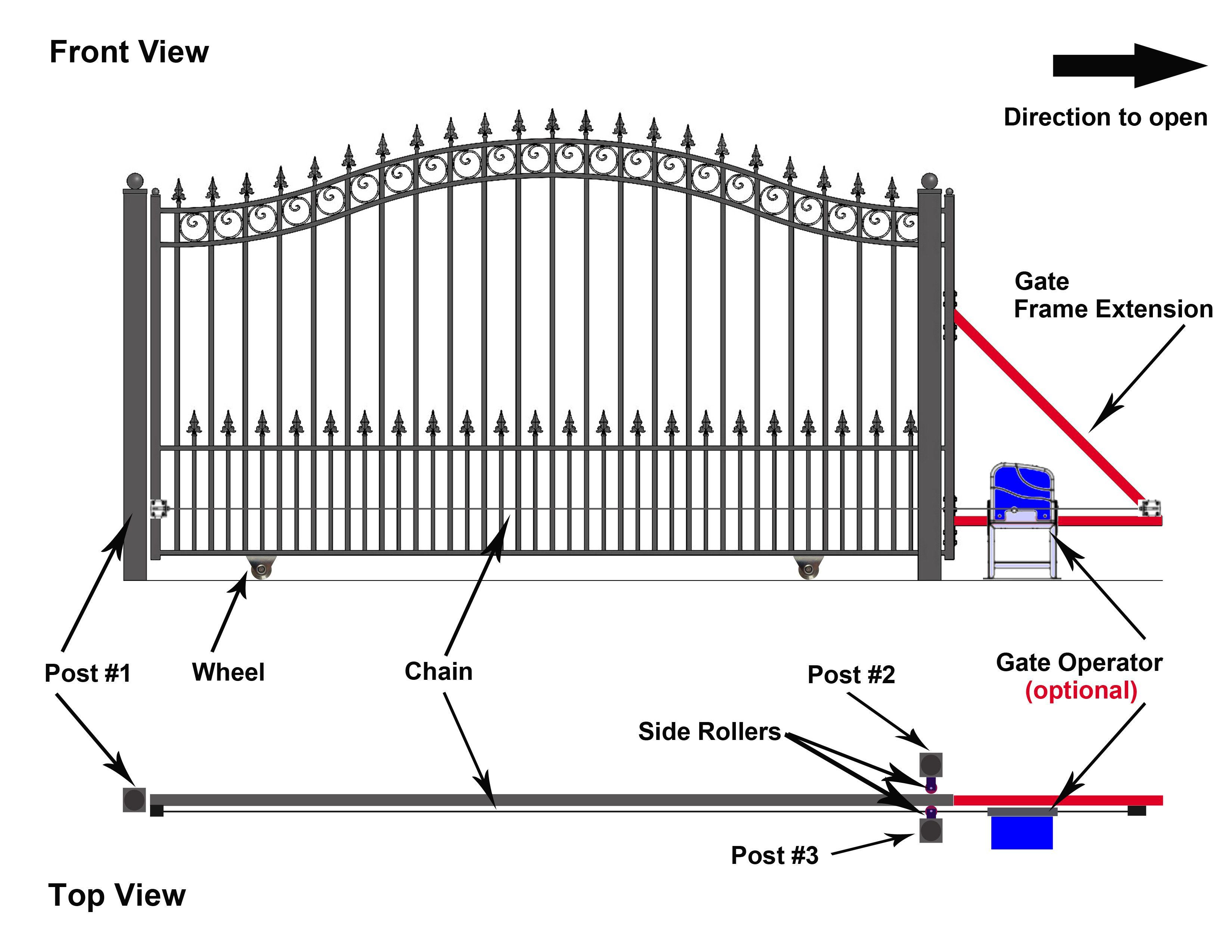 Steel Sliding Driveway Gate Munich Style 12 X 6 Ft Aleko Driveway Gate Sliding Gate Gate
