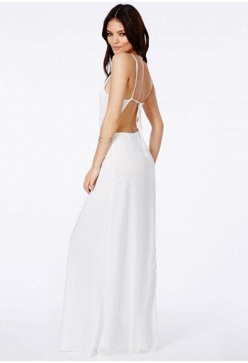 White strappy maxi dress