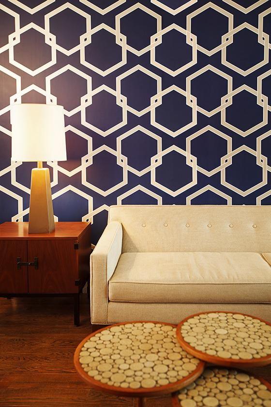 Honeycomb Tempaper Wallpaper