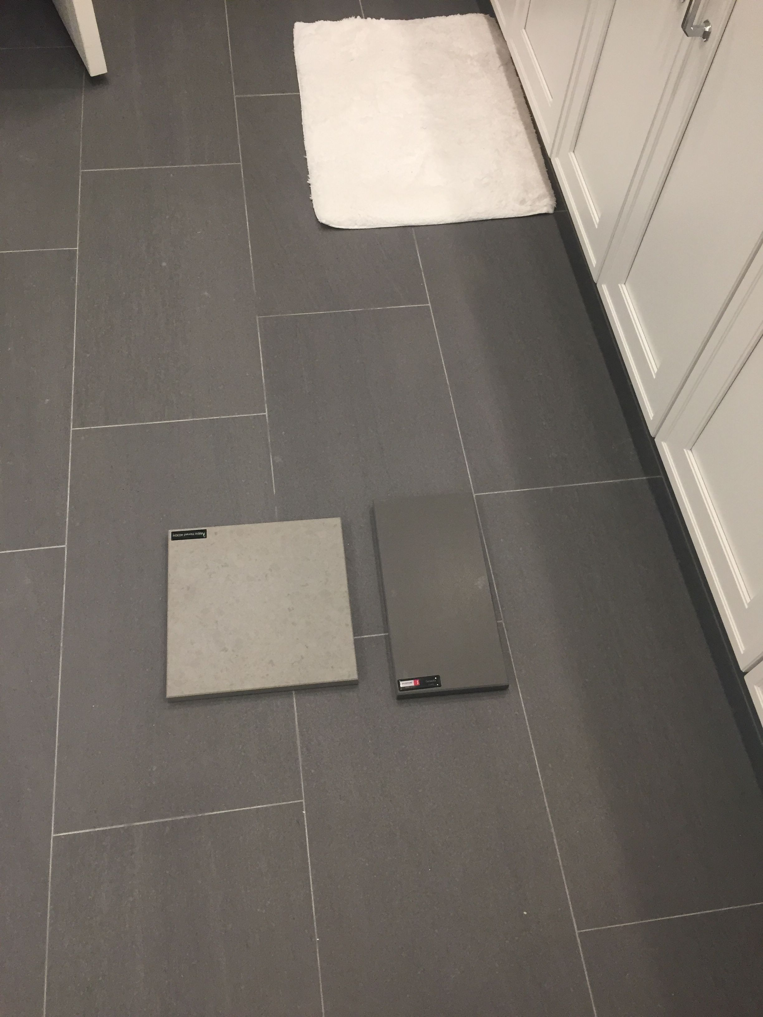 Silestone Cemento Spa Suede Finish Solid Surface On Right Shown Hy Floors Kursaal Color Slate
