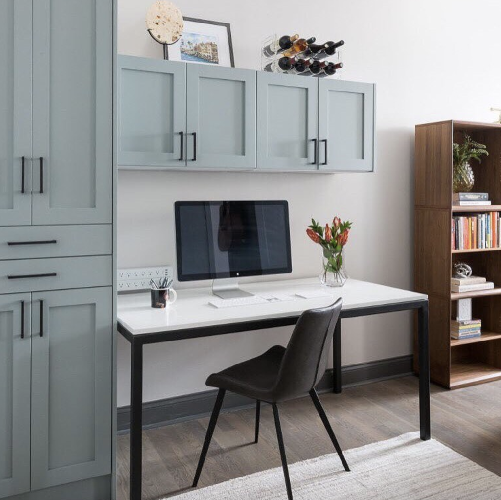 Creating Your Home Office Using Ikea Sektion Kitchen Cabinets In 2020 Ikea Home Office Home Ikea Built In