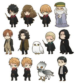 Pottermore Harry Potter Characters Re Imagined In Adorable New Designs Harry Potter Cartoon Harry Potter Comics Harry Potter Drawings