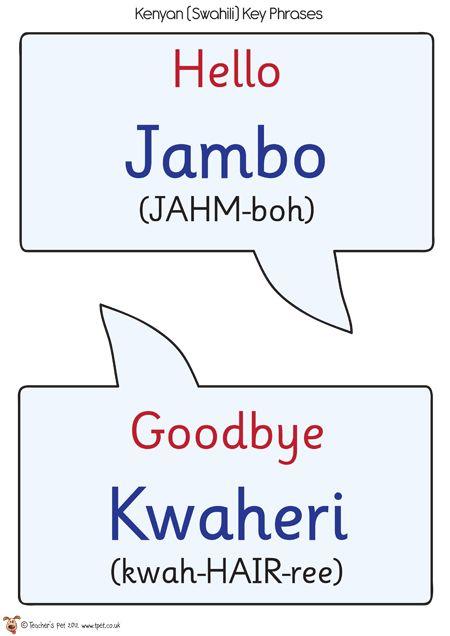 Teacher S Pet Swahili Speech Bubbles Free Classroom Display